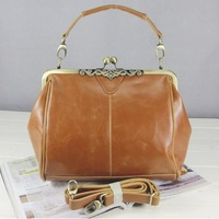 freeshipping 2013new fashion metal hasp PU handbags