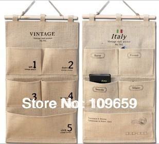 Free shipping Updated version pure hemp big hanging bag,wall storage bag waterproof,retail&wholesale,CY-ST09