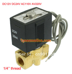 "Free Shipping 1/4"" Electric Solenoid Valve Air Gas Diesel B20N VITON Seal 12VDC DC24V/AC110V or AC220V Option VX2120-08(China (Mainland))"