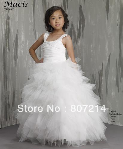 White Flower Girl Dress Size 10 84