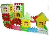44pcs/set children toy building blocks educational toys house building blocks