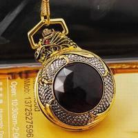 Free shipping Cool Golden Dragon Pocket Watch