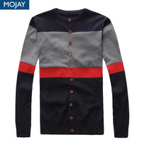 Mojay men's clothing trend wood button autumn male slim sweater cardigan sweater