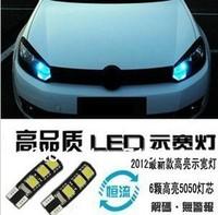 New Arrival  CANBUS T10 Car corner light,Marker lamps ERROR FREE  6SMD 5050 LED SIDE LIGHT BULB 10pcs/lot