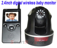 New 2.4 inch TFT LCD 2.4GHz Digital Wireless Baby Monitor Pan and Tilt Camera with Night Vision Camera,Free+Drop Shipping