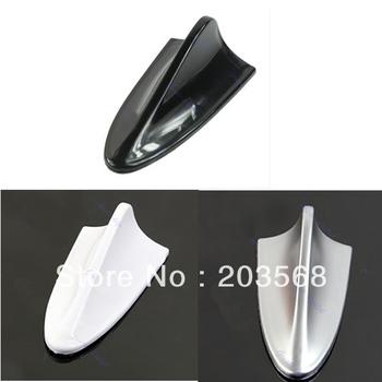 D195pcs/lot Universal Cheap ABS Plastic Car Antenna Shark Fin Decoration Silver/Black/White +Free Shipping