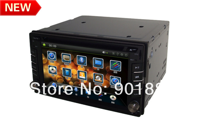 """2014 NEW 6.2"""" double din car stereo 800MHZ WINCE6.0 Map HD 1080P RDS Customization UI ATV Canbus I-Pod FM BT Multi-language OSD(Hong Kong)"""