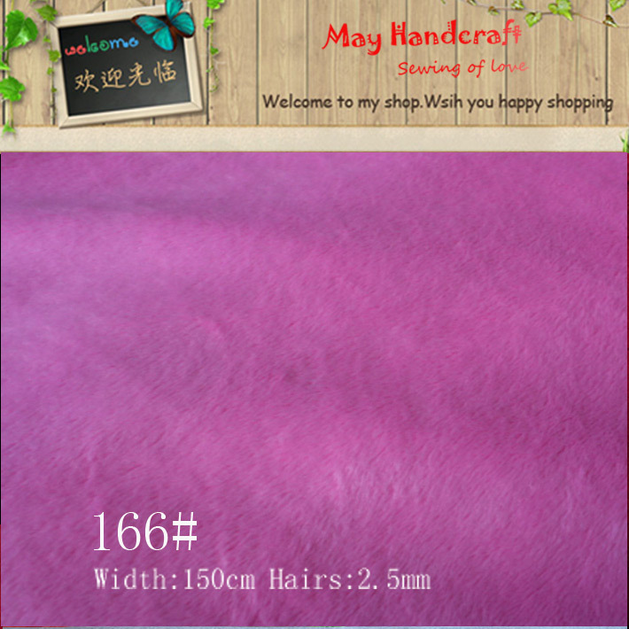 Free shipping, No Fading No Droping Hair Short Pile Super Soft Minky Fleece Fabric for Toys Stuff Toy DIY Material Patchwork(China (Mainland))