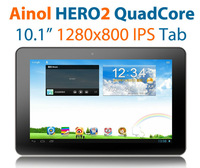 Newest QuadCore Ainol Hero 2 hero II 10.1&quot; Android 4.1 Tablet pc 1280x800 IPS quad core 1.5GHz 16GB dual camera WIFI HDMI