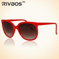 Rivbos anti-uv sunglasses fashion brief trend glasses male Women t0071