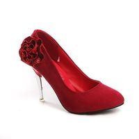 Free shipping Rose Comfort Suede sexy Wedding High-Heeled Shoes Lady's Fsahion Shoes Dropshipping