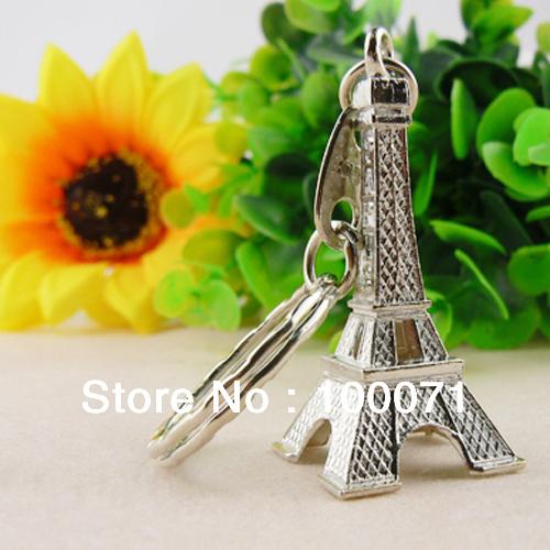 2шт Уникальные ретро Эйфелева башня Парижа Брелок Модель металла брелок Бре