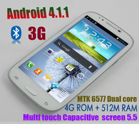 2013 free shipping by sg post! 5.5 inch screen Star N9330 Note II android4.1.1 phone MTK6577 dual core 512MB RAM 4G ROM /emma