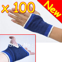 New 100 Pairs Elastic Wrist Brace Support Palm Wrap Guard Protector + Free EMS DHL Shipping