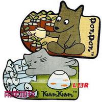 Thin cartoon kitten slip-resistant mats doormat Size:40*68cm
