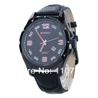 Free shipping!! Quality Brand watches CURREN 8121 Casual Round Dial Wristwatch with Quartz Movement/Date Display/PU Leather Band