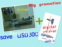 hot promotion!save USD300!1set automatic paste filler and 1set AM90L-H portable laboratory Digital Stirrer just for USD1338
