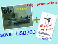 hot promotion!save USD300!1set automatic paste filler and 1set AM90L-H portable laboratory Digital Stirrer just for USD1338