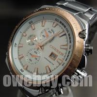 2013 Brand New Curren Wholsale Sport Water Quartz Hours Date Luxury Men's Clock Steel Wrist Watch
