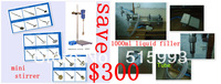 big discounting!save USD300!1set automatic Liquid filler and 1set mini  laboratory Digital Stirrer just for USD1238