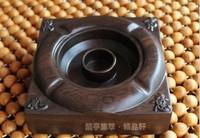 Free Shipping Wooden cigarette ashtray cigar ashtrays ash tray Car tobacco jar Ornament Wood Decoration Handicraft Business Gift