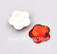 25MM Flatback Resin Cabochon Indian Red Wintersweet Plum Blossom Cell Phone Case DIY Handmade Decoration Accessory 50PCS