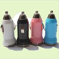 Retial 2pcs/lot  Mini car charger 1a trainborn usb charge head multicolour usb car charger adapter