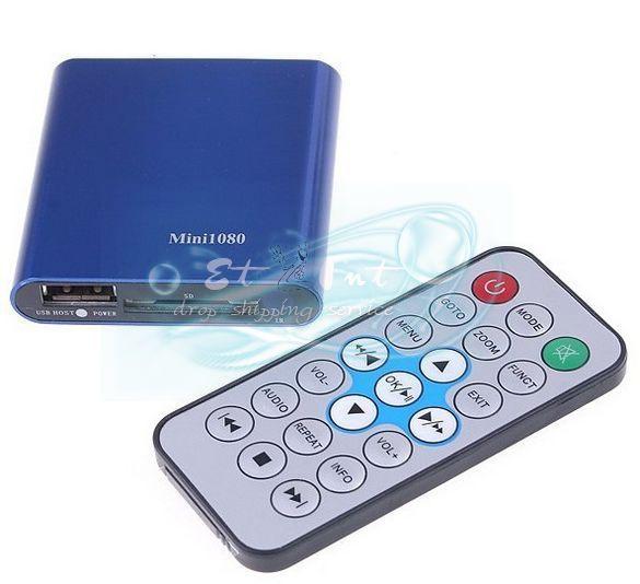 Mini SD USB HDMI 1080P HD Media Player USB MKV RMVB RM SD SDHC MMC HDD HDMI New(China (Mainland))