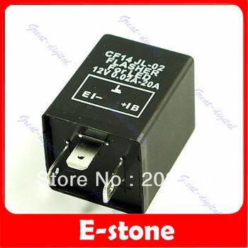 D19+Free Shipping!!!2pcs/lot 3 Pin Car Electronic LED Flasher Relay to Fix Turn Signal Blinker Light