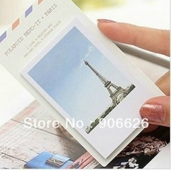 24pcs/lot free shipping Eiffel tower aesthetic small notebook notes n times stickers memo pad photography props novelty items(China (Mainland))