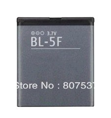 Free shipping! BL-5F BL 5F Repalcement Battery Mobile Cell Phone Battery for Nokia N93I,N95,N96,N98,N99,X5-00,X5-01(China (Mainland))