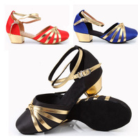Retail & Wholesale brand new Free shipping 201 autumn child Latin shoes dance shoes bright color  3 colour mixed tango shoes