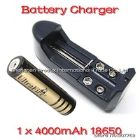 New Arrival US Li-ion Battery Charger For 18650/14500/AA/AAA with 1 x 4000mAh 18650 Batteries EU AU adapter Drop Shipping