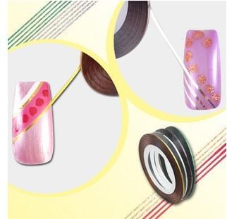 Free shipping-wholesale 5 rolls Gold +5 Rolls Silver  Nail Art Tips Striping Tape Decoration Metallic yarn