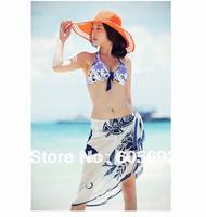 Free Shipping New Fashion Sexy Pareo Dress Sheer Sarong Beach Bikini Wrap Swimwear Cover Up Scarf Y29