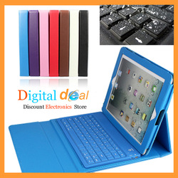 Super Cool Waterproof Wireless Bluetooth Keyboard Case for iPad 2&3&4 New iPad Free Shipping(China (Mainland))