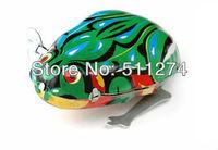 Retail Classic children clockwork toys, Iron sheet frog.Free shipping
