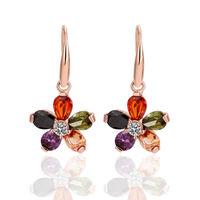KE256 Promotion,18k gold Plated earrings,18k gold jewelry,wholesale fashion jewelry pearl earrings,Free shipping,antiallergic