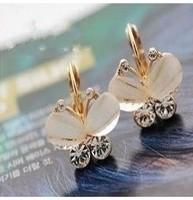 Min. order is $15 (mix order) New Women's Fashion bow Rhinestone Stud Earrings 0104