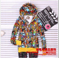 2012 spring bape cartoon fleece lovers outerwear sweatshirt long-sleeve hoodie