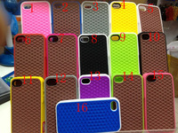 Waffle Case Sneaker Silicone Cover Case for iphone 4 4G 4S 10pcs/lot