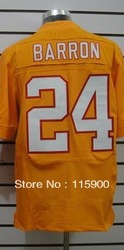 free shipping 2013 orange #5 Freeman #20 Barber #24 Barron #83 Jackson men&#39;s American Football Jerseys(China (Mainland))