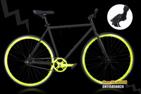 Black Frame( 50cm) with Fluorescent yellow Rim & Black Tyre(700X23C)  Single Speed Bike,FIXEE 2.0,Special Price !