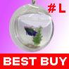 Wall Hanging Mount Bubble Aquarium Bowl Fish Tank #L