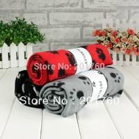 New Paw Print Dog Cat Soft Pet Fleece Blanket Mat 10pcs/lot free shipping