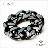 New Arrival Black  Acrylic  Chain Bracelet   12pcs/lot -free shipping
