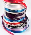 Free shipping Custom logo printed polyester ribbons gift package decoration ribbons with own logo 100yards/lot