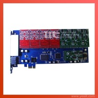 Asterisk card A1600E 16FXO  PCI-Express card for voip elastix trixbox ip pbx support dahdi driver