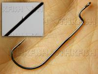 30X #3/0 Bait holder Soft lure Hooks Gap Gape Offset Shank Worm Fishing Hooks