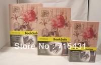 HOT The simulation Rose diary&novel safe Creative piggy bank mini book safe box,Secret book,3 sizes,Free shipping